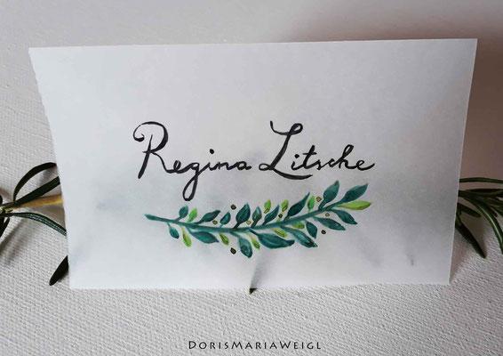 Sitzplatzkarte 7 - Illustrationen Doris Maria Weigl / Festtage / Hochzeit