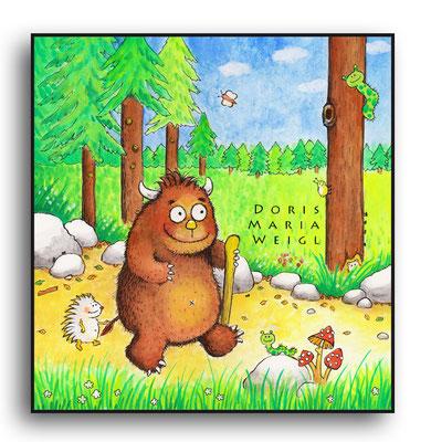 Alfons - Aquarell - Illustrationen Doris Maria Weigl / Kinderbuch