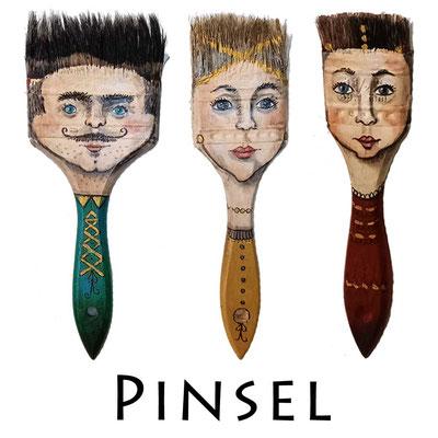 bemalte Pinsel - Manufaktur - Doris Maria Weigl - Illustrationen