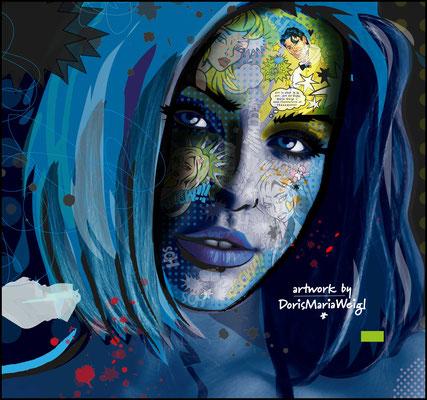 "Foto mit Vektorgrafik ""POP"" - Illustrationen Doris Maria Weigl Mixed Media"