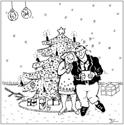 Weihnachten - Tusche - Illustrationen Doris Maria Weigl / Comic
