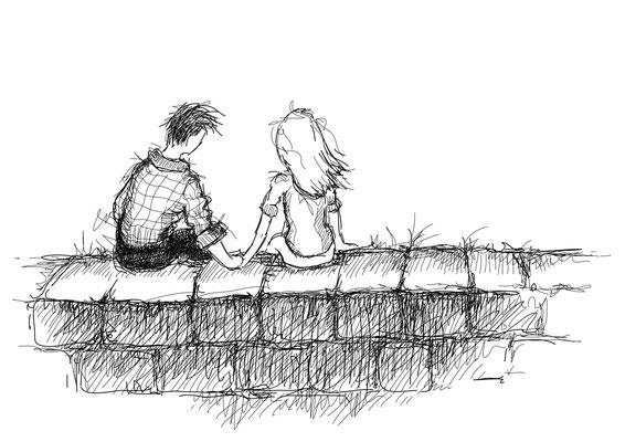 Wege des Glücks - Vektorgrafik - Illustrationen Doris Maria Weigl / Menschen