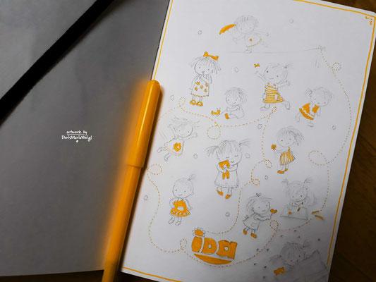 "Sketchbook - Illustration - Doris Maria Weigl - ""Ida"""