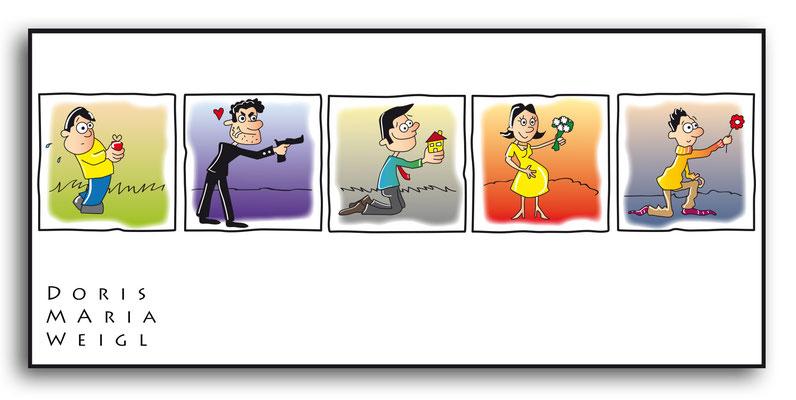 Dere Antrag - Vektorgrafik- Illustrationen Doris Maria Weigl / Comic