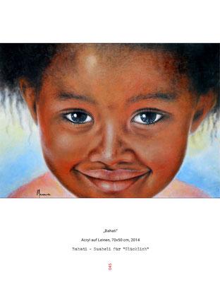 Bahati - Acryl auf Leinen - Doris Maria Weigl