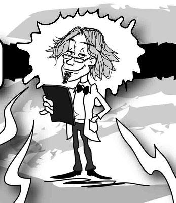 Herr Dr. Rath - Vektorgrafik- Illustrationen Doris Maria Weigl / Comic