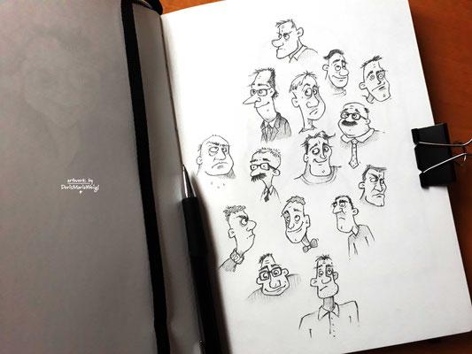 Köpfe - Vektorgrafik - Illustrationen Doris Maria Weigl / Menschen