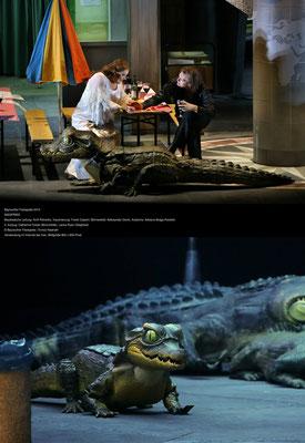 Krokodil Kostüm (Man in suit) Auftragsarbeit für die Beyreuther Festspiele