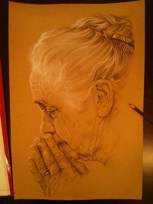 Zeichnung nach Norman Rockwell