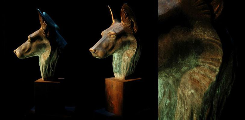 Bronze Imitation (in Styropor geschnitzt, Papierkasché)