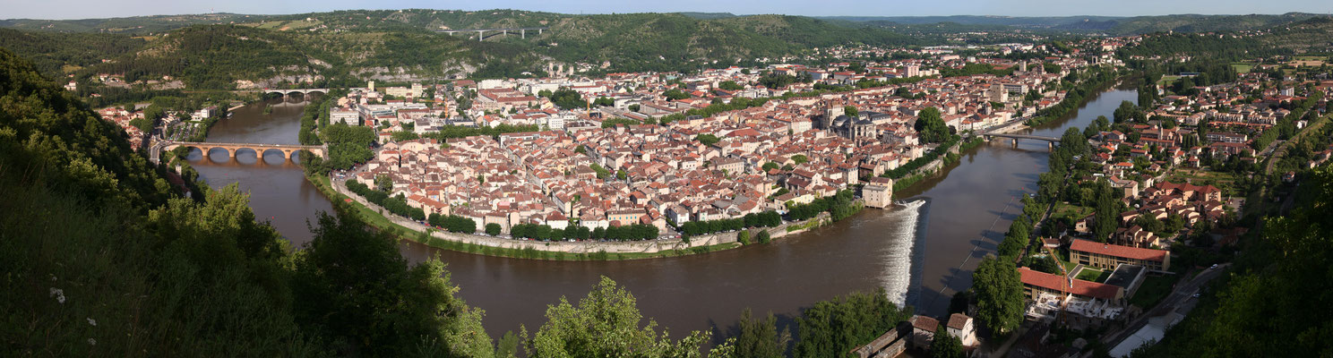 View on Cahors city