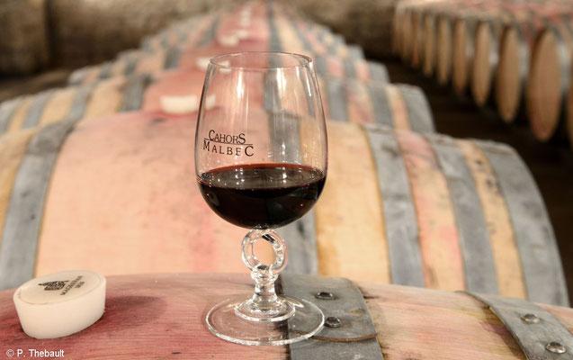 Cahors black wine