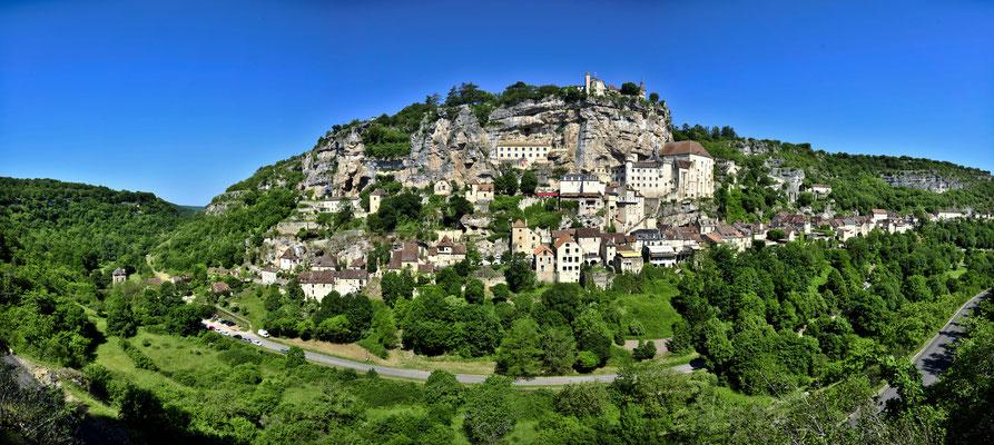Panoramique du village de Rocamadour