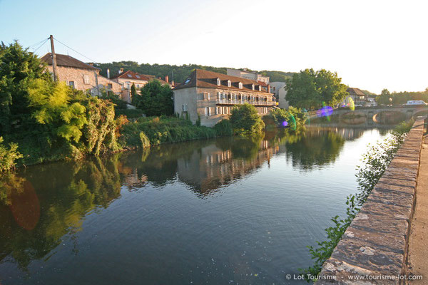 "The ""Célé"" river in Figeac"