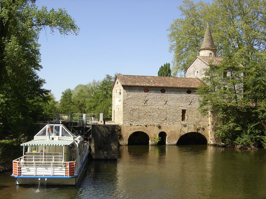 """Moulin de Coty"" lock in Cahors"