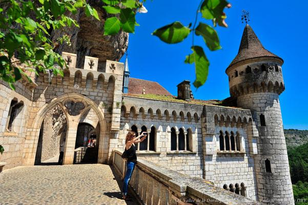 Le palais des évêques à Rocamadour