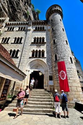Entrée des sanctuaires de Rocamadour