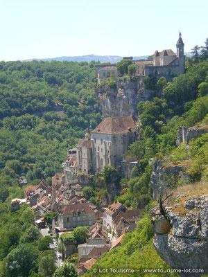 Vue verticale de Rocamadour