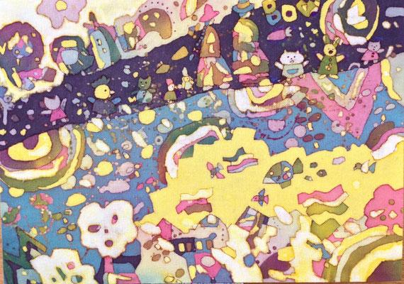 2015年制作「She's A Rainbow」25.7×36.4cmです。