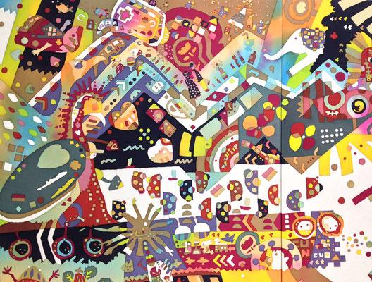 2013年制作「TULIP」の左上部分です。京都工芸美術作家協会展にて展示して頂きました。
