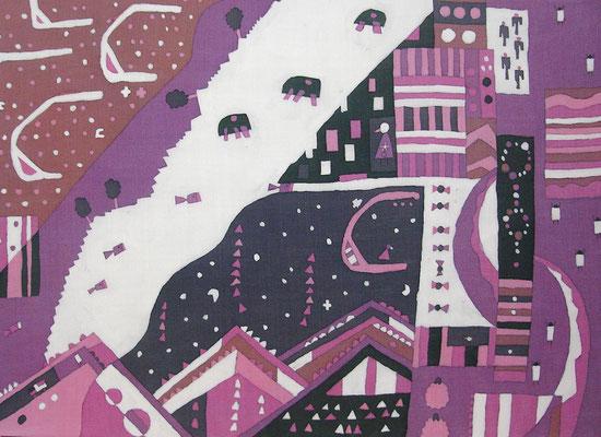 2010年制作「夢先案内人」36.4×51.5cmです。
