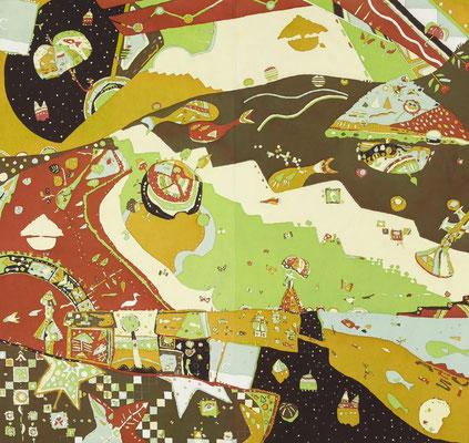 2007年制作「北欧Style」145×155cmです。日展入選作です。