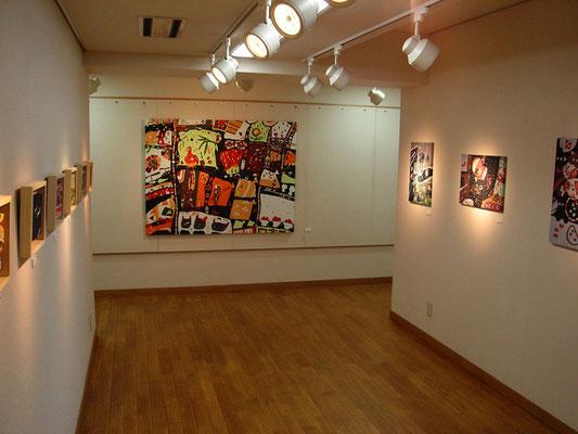 2009年にギャラリー恵風にて開催した初個展の展示風景です。