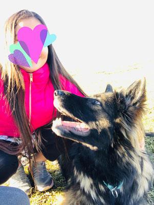 Bonnie mit ihrer besten Freundin