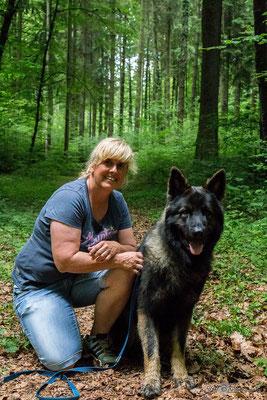 Nicole mit ihrem Baiko