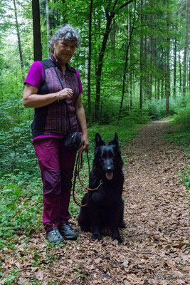 Linda mit ihrer Kassy