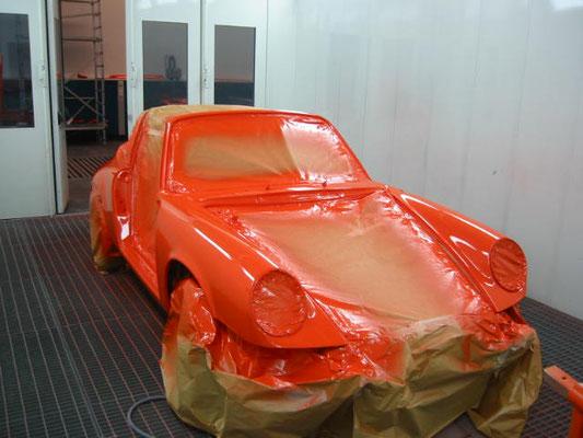 Porsche Komplettlackierung 2 bei Schatzmeister 4x4