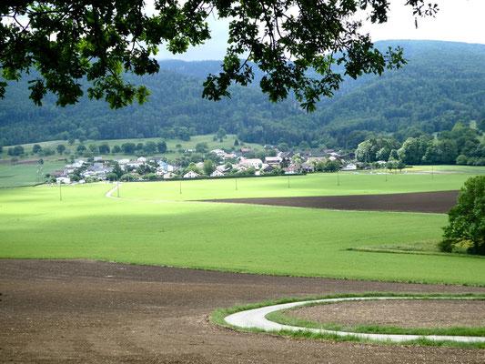 Châtillon vom Weg nach Rossmaison