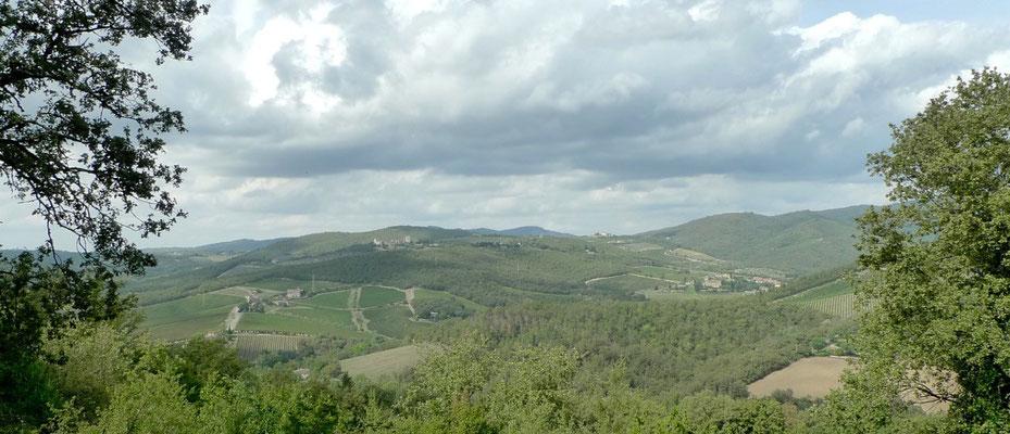 Blick über das Gaiole-Tal