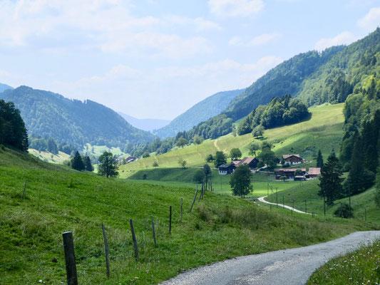Tal vom Seehof kurz vor Ortsteil Stäge