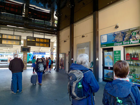 Auf dem Bahnhof in La Spezia