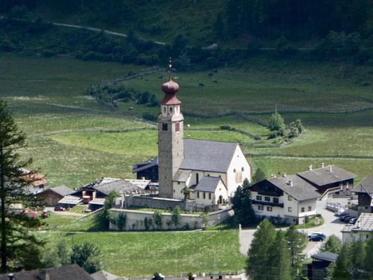 Kirche von Schnals, gleicher Turm wie in Partschins