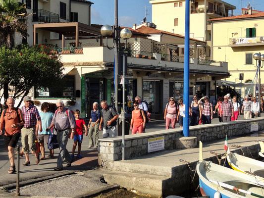 Ankunft in Marina di Campo