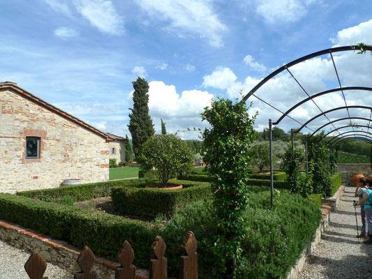 Kräutergarten beim Castello di Meleto