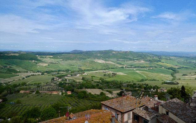 Sehr schöne toskanische Landschaften