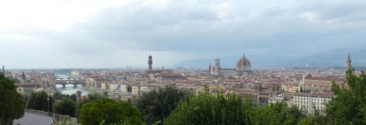 Blick über Florenz von Michelangelo-Platz