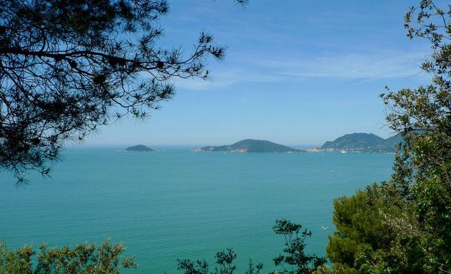 Blick auf die Inseln Palmaria und Tino