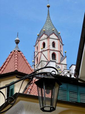 Turn der St. Nikolaus-Kirche, ähnlich des Turms in Partschins und Schnals