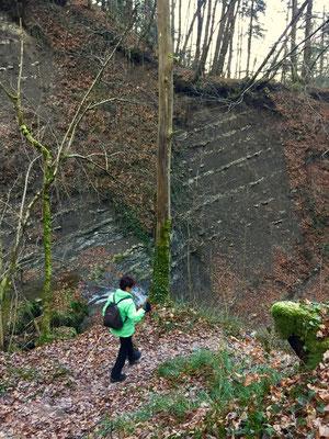 Auch hier sind die geologische Schichten sichtbar