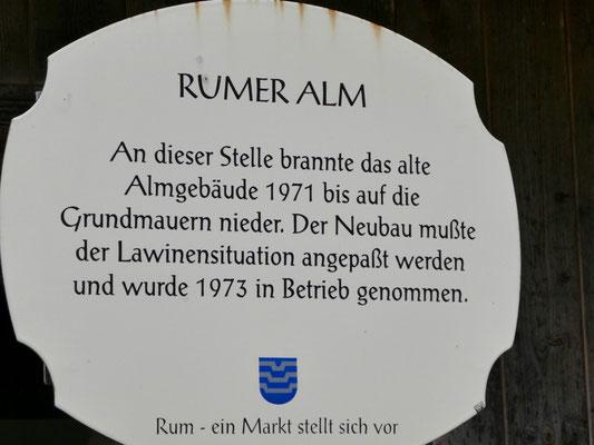 Die Geschichte der Rumer Alm