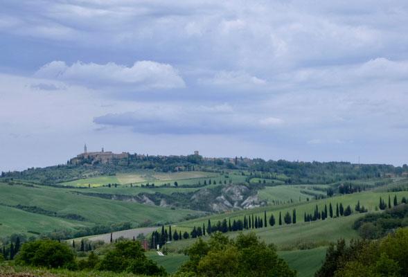 Landschaft mit Pienza