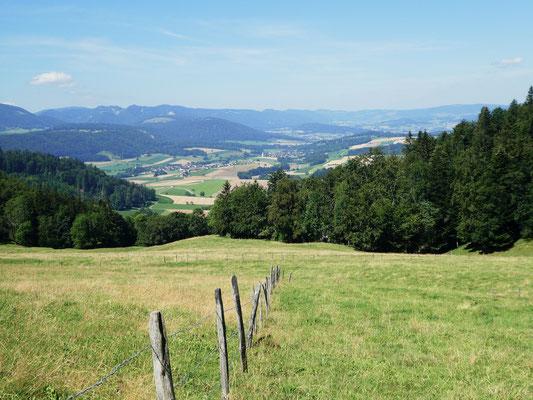 Blick von La Chèvre ins Val Terbi