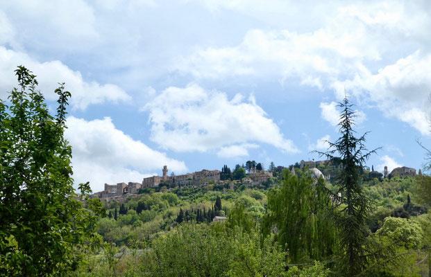 Blick zurück auf Montepulciano