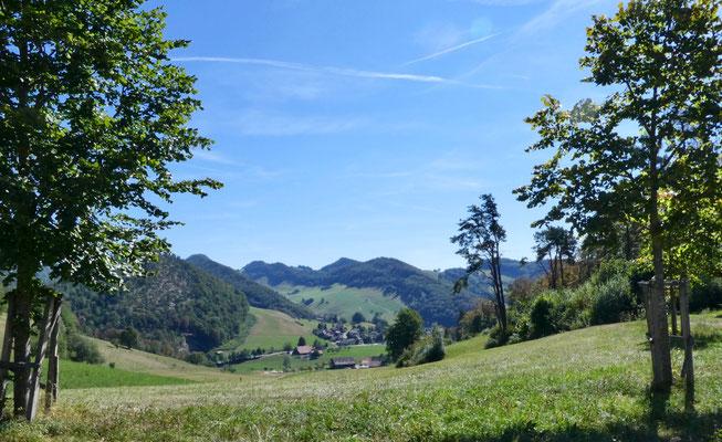 Blick von der Helfenbergrüttenen über Langenbruck