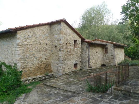 Die umgebaute Mühle unterhalb von Barbischio