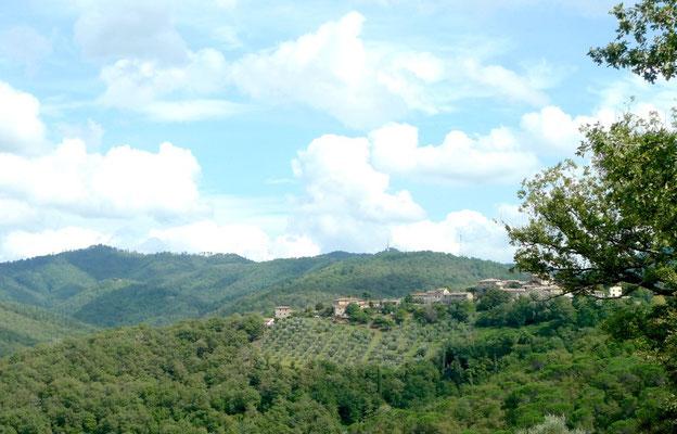 Auf dem Rückweg letzter Blick auf Castagnoli